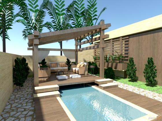 Diseño de terraza con aplicación gratis