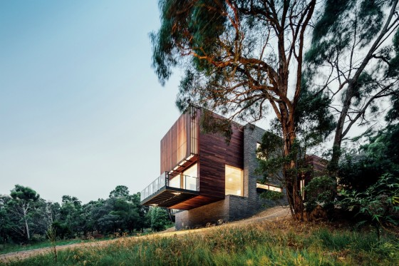 Fachada moderna casa montaña