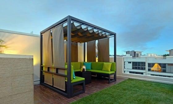 Muebles verdes azotea