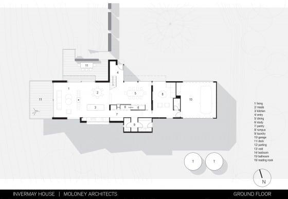 Plano casa dos pisos ubicado en montaña