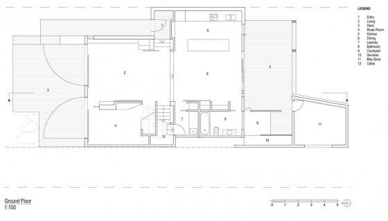 Plano de casa de dos pisos - primer piso