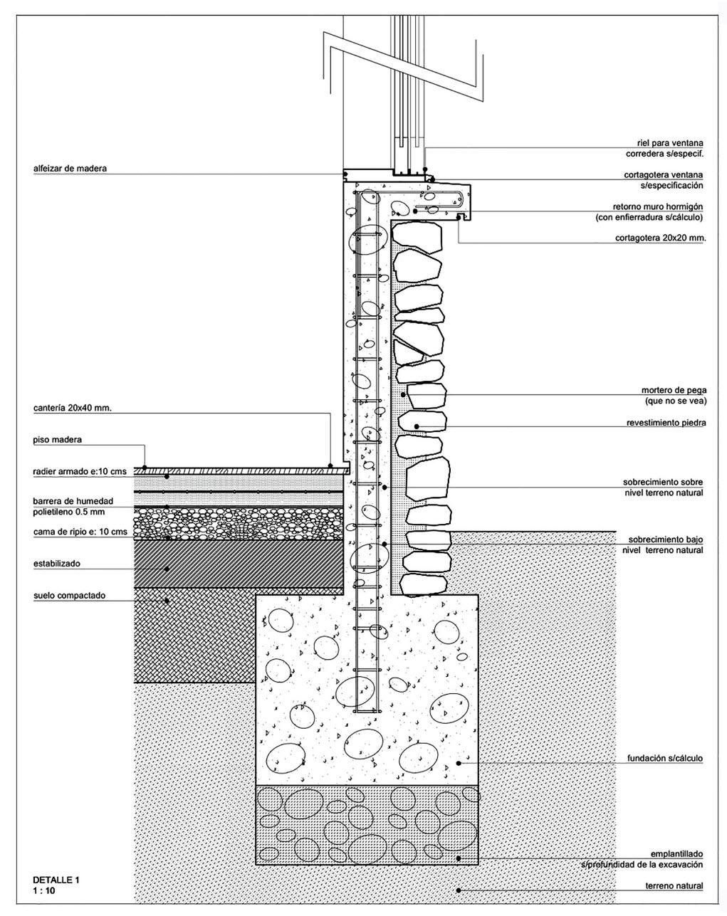 Plano de cimentaci n de casa de un piso construye hogar for Detalles para casas modernas