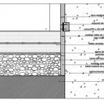 Plano de detalles constructivos encuentro muro - piso