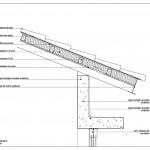 Plano de detalles de techo inclinado