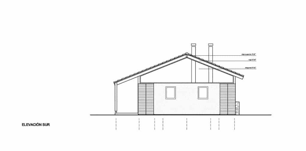 Dise o de casa de campo de un piso construye hogar for Casas con techo a un agua
