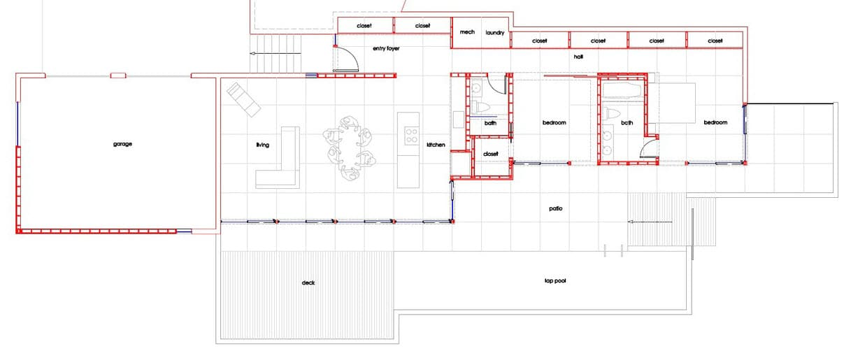 Planos de casas rurales plano de casa en forma de l - Planos de casas rurales ...