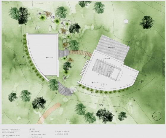 Plano de techos de casa de campo