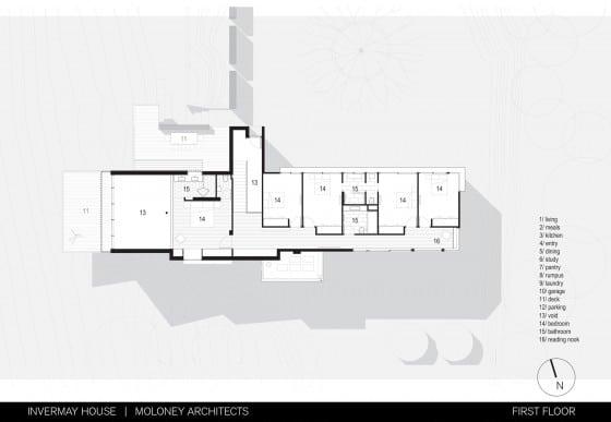 Plano de casa de dos pisos ubicado en montaña 002