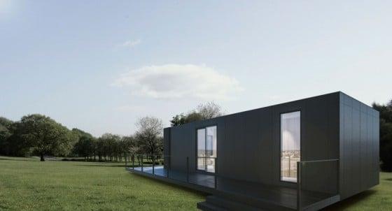 Diseño casa tipo conteiner