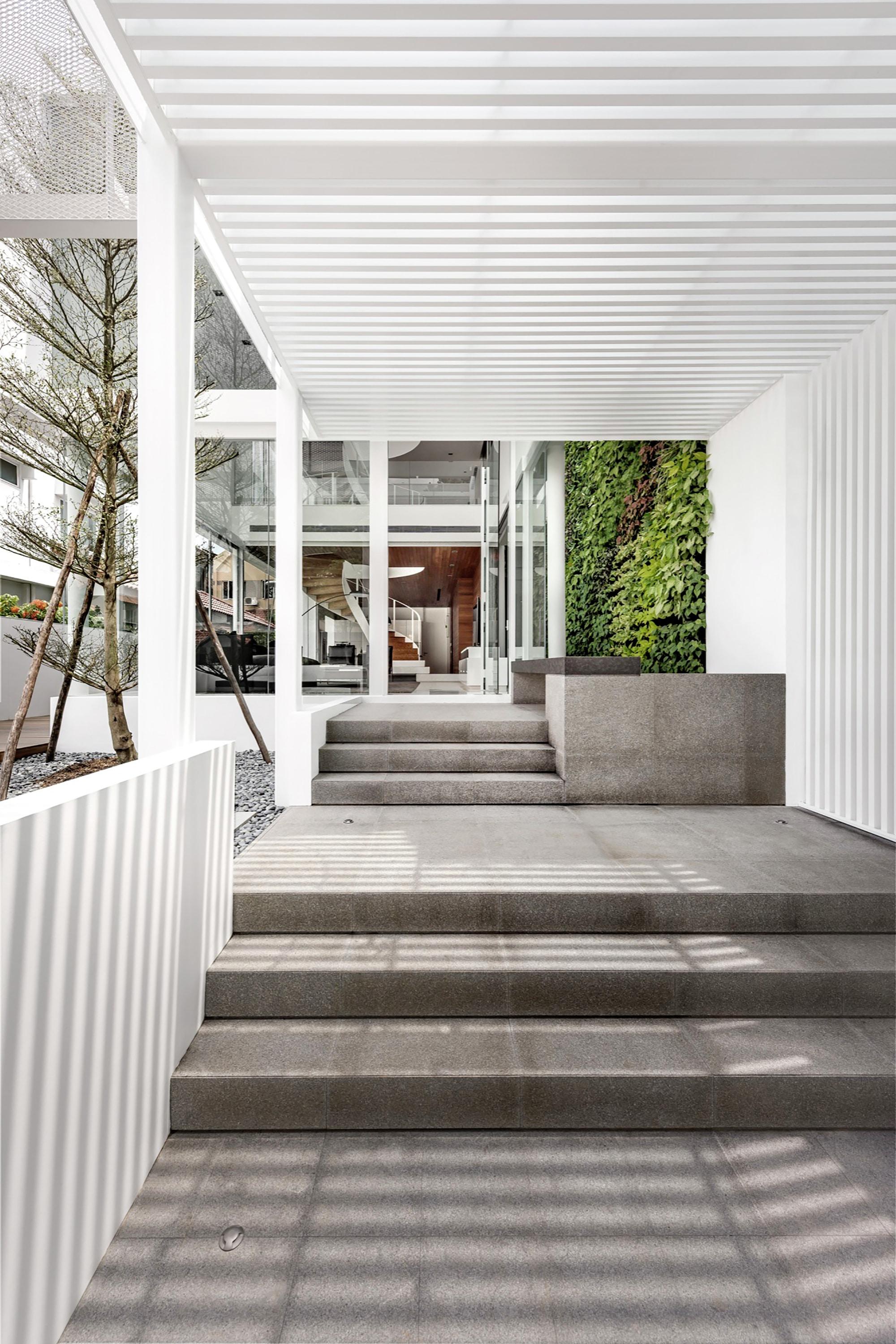 Casa moderna cuatro dormitorios for Diseno de gradas
