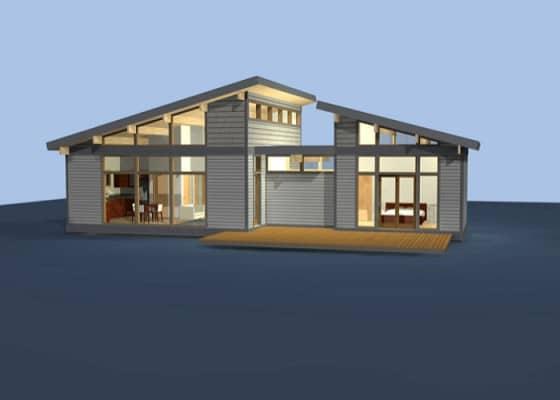 Diseño casa de campo prefabricada