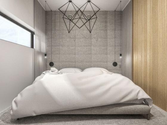 Diseño de dormitorio pequeño moderno