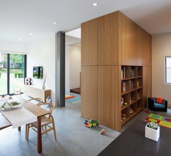 Diseño de estantería de madera