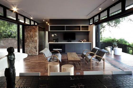 Diseño de sala estar y cocina pequeñas