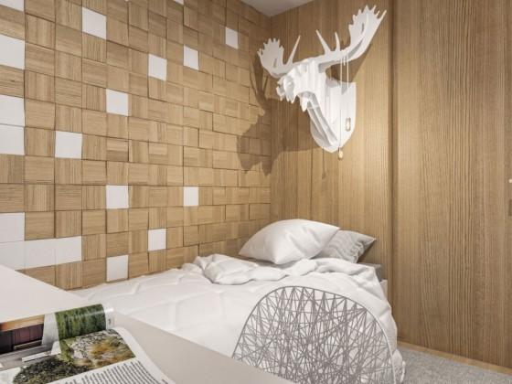 Diseño dormitorio pequeño moderno