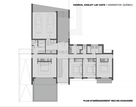 Plano de casa dos pisos - primer piso