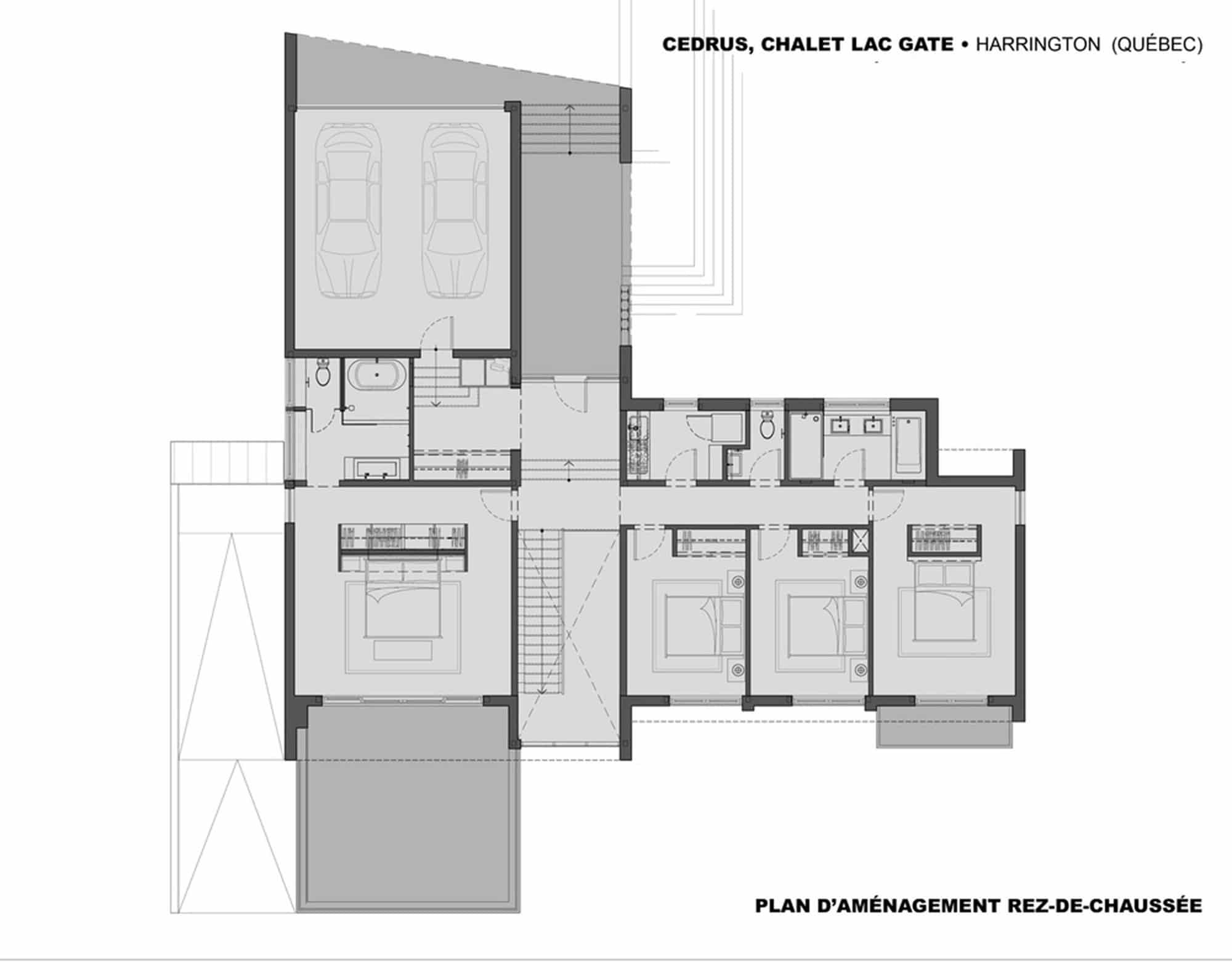 Casa de campo moderna de dos pisos en desnivel construye for Planos para segundo piso