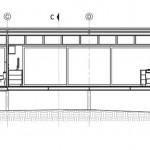Plano de corte B de casa de un piso