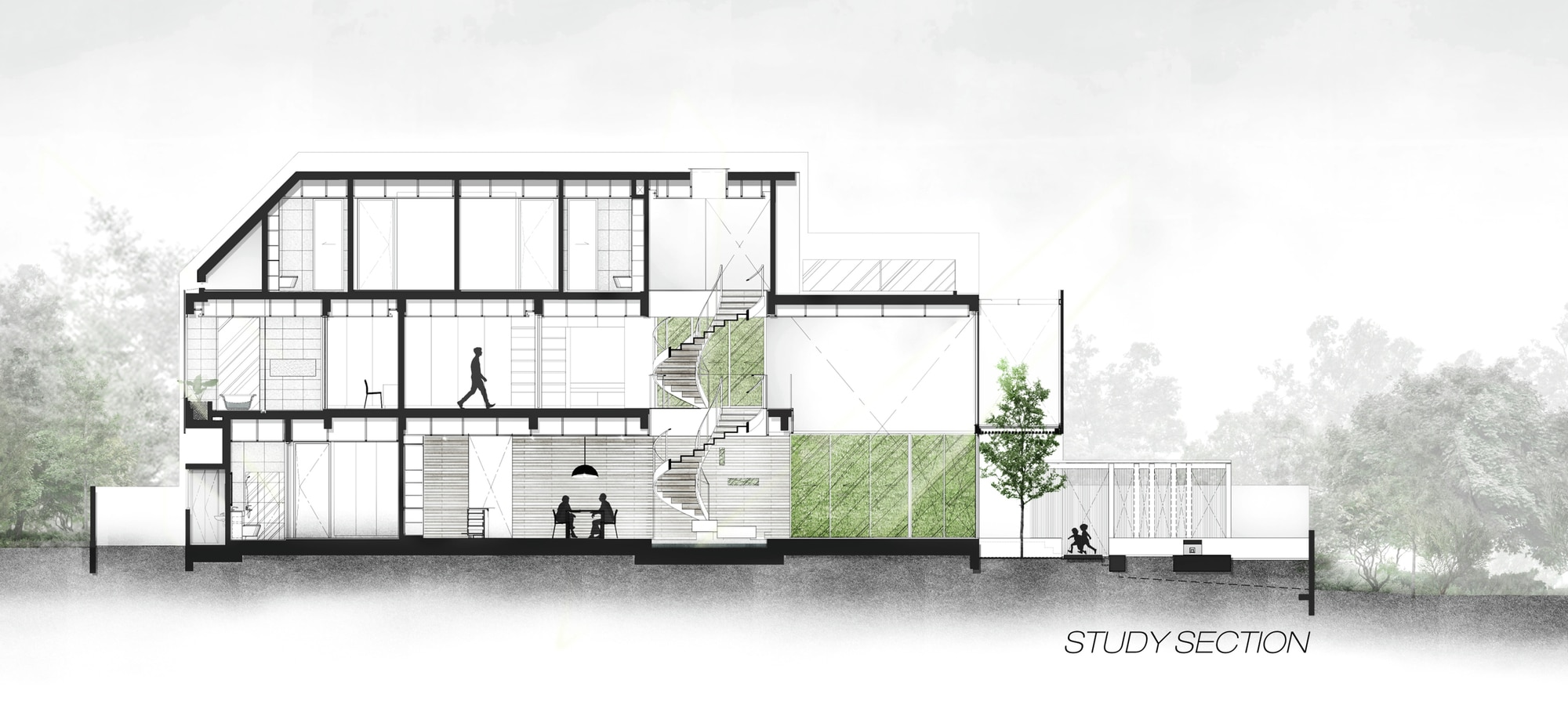 Casa moderna cuatro dormitorios for Fachadas modernas para casas de tres pisos
