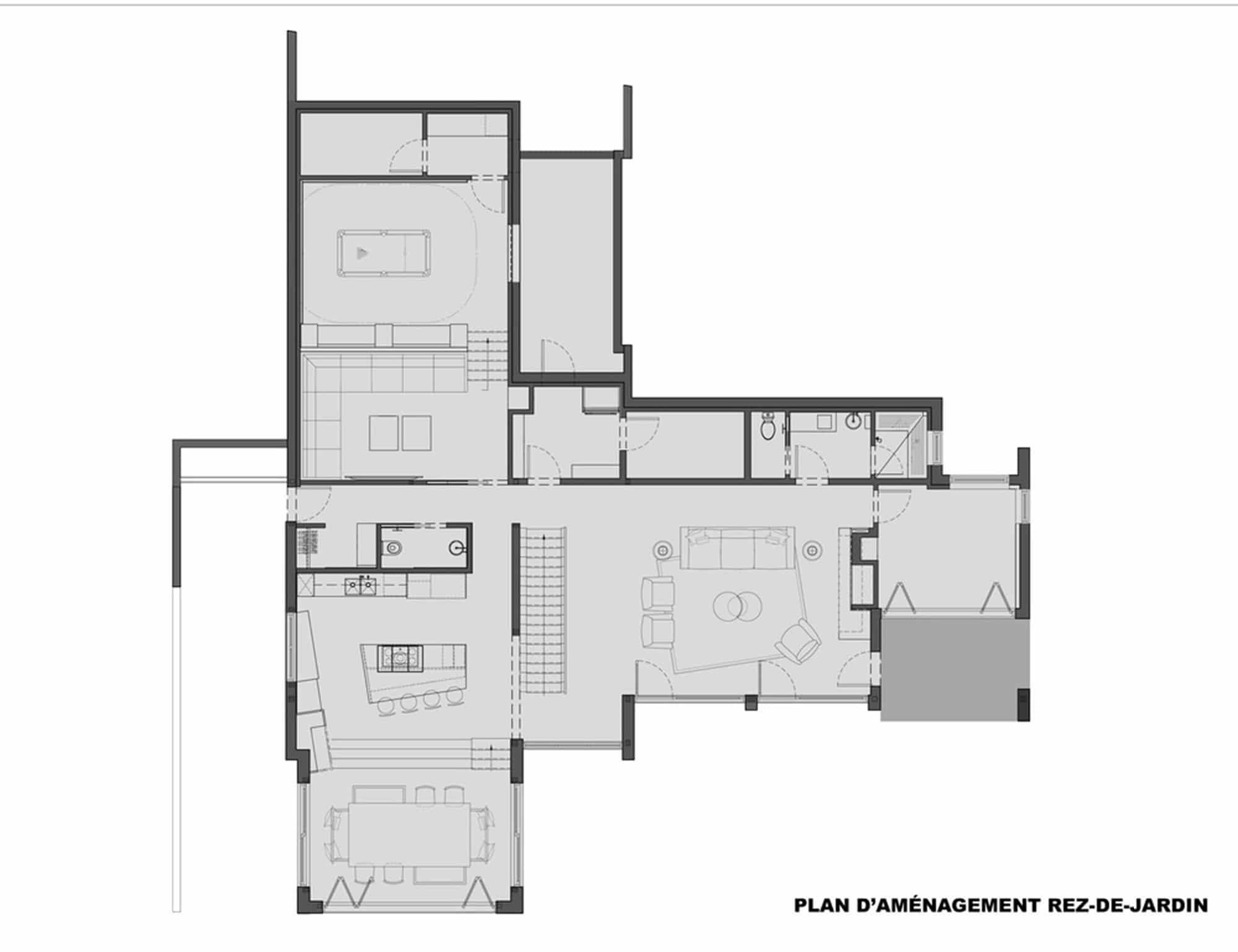 Casa de campo moderna de dos pisos en desnivel construye - Planos de casas de 2 pisos ...