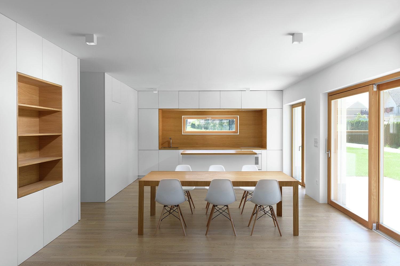 Planos de casa peque a de dos pisos - Estanterias comedor ...