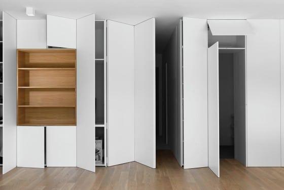 Diseño de estantería modular para departamento