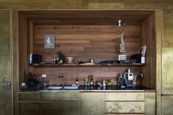 Pequeña y original cocina