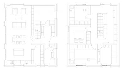 Photo of Planos de casa pequeña de dos pisos, incluye una interesante propuesta con estantería en el diseño de interiores