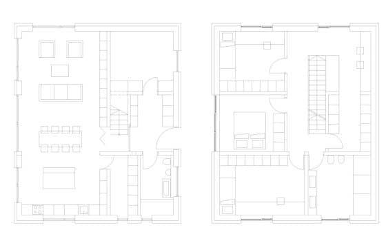 Planos casa pequeña de dos pisos