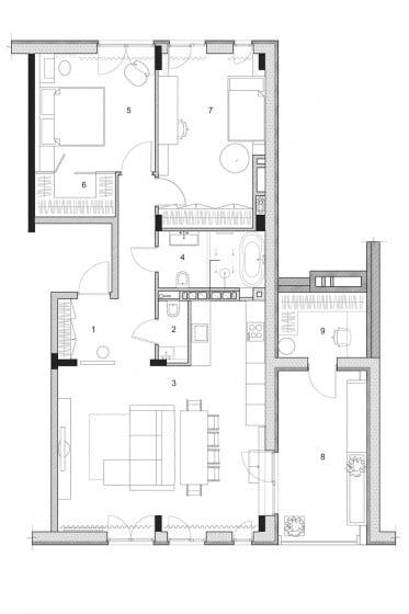 Departamento pequeño dos dormitorios