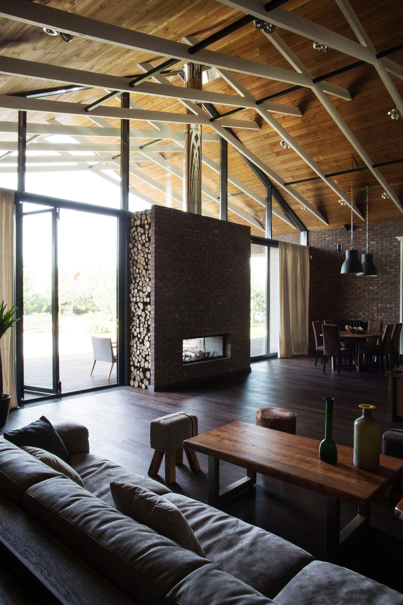 Casa de un piso de 390 metros cuadrados construye hogar - Diseno casa rustica ...