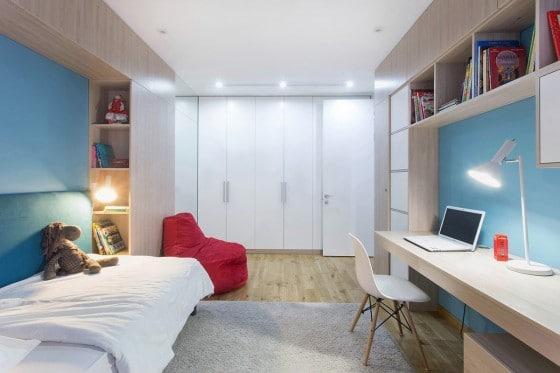 Dormitorio de niños para departamentos