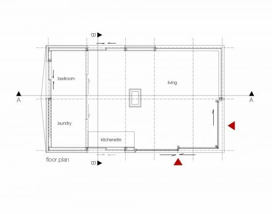 Plano de pequeña cabaña
