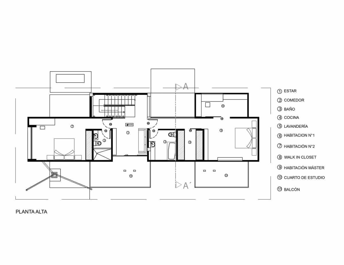 Planos de casa de dos pisos y tres dormitorios construye for Planos de casas de dos dormitorios