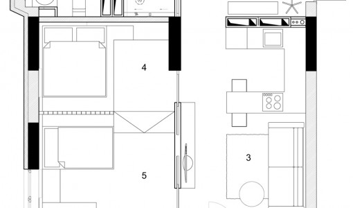 Departamentos peque os construye hogar for Disenos departamentos pequenos planos