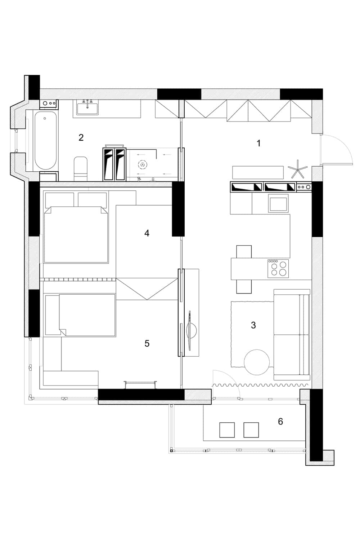 Departamentos peque os parejas con ni os construye hogar for Planos de interiores