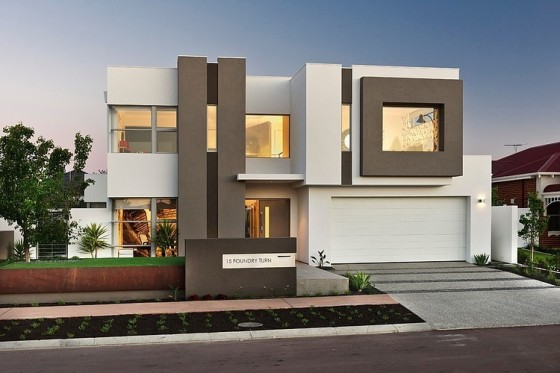 Fachadas de casas modernas de dos pisos construye hogar for Fachadas de viviendas modernas