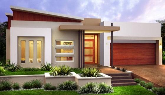 10 fachadas de casas modernas de un piso for Fachadas de ventanas para casas modernas