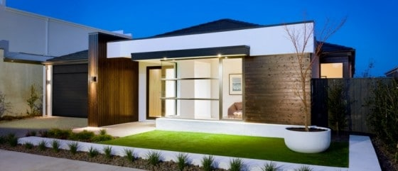 Fachada de casa moderna 1 nivel