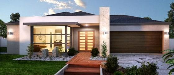 10 fachadas de casas modernas de un piso for Fachadas de casas modernas 1 piso