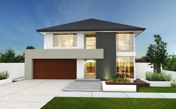Fachadas de casas modernas de dos pisos for Fotos de casas modernas con balcon