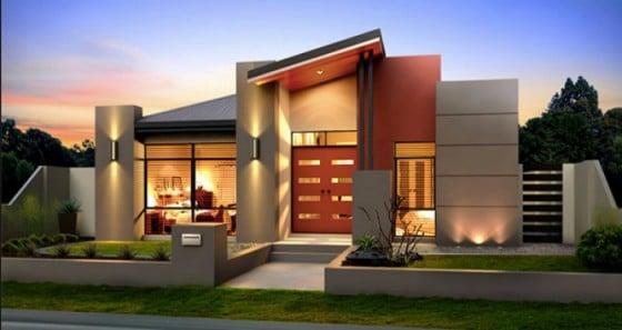 Hermosa fachada moderna