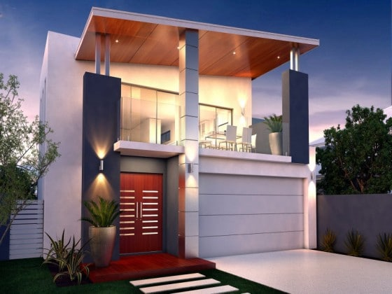 Diseño pequeña casa de dos pisos