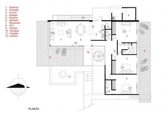10 ideas de casas modernas de un piso construye hogar for Casas en ele planos