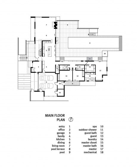Planos de casa grande de 280 m²