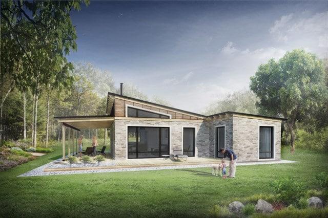 10 modelos de casas de campo ideas con fotos for Casas de piedra y madera