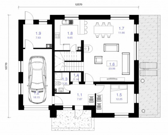 Dise os de casas ideas con fotos y planos construye hogar for Diseno de apartamentos de 90 metros cuadrados