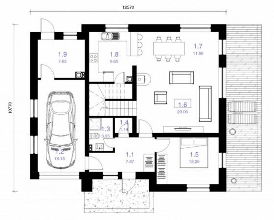 Plano casa 120 metros cuadrados