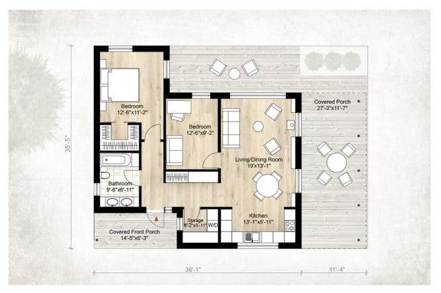10 modelos de casas de campo ideas con fotos for Ver planos de casas de una planta