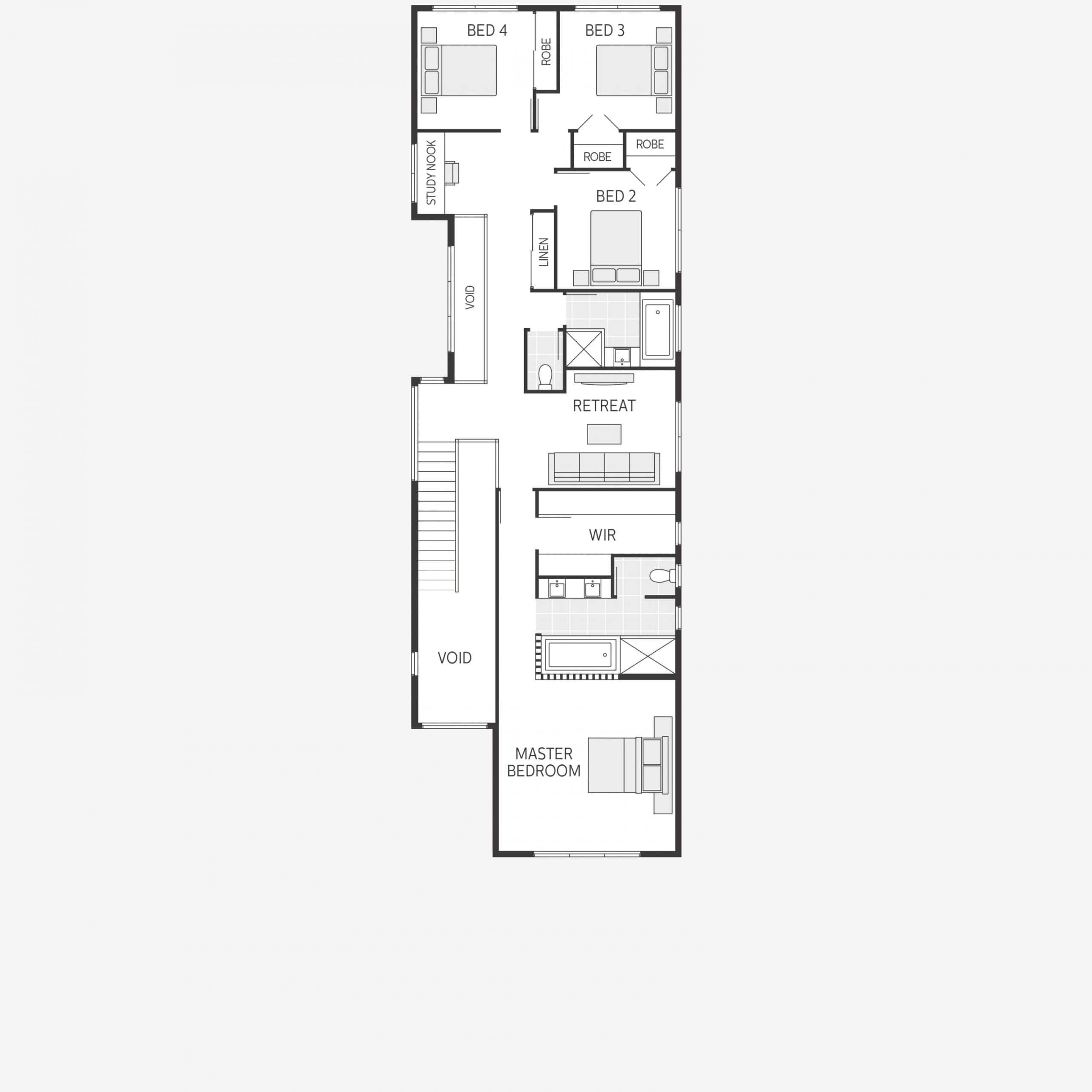 Ideas para casas en terrenos peque os construye hogar for Planos de casas de dos pisos con medidas